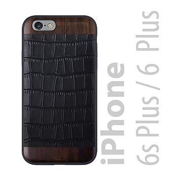 iATO - Carcasa para iPhone, Black Croco & Bois de Rose - iPhone 6/6S Plus [5.5
