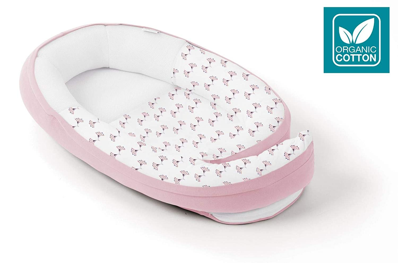 Pink Flowers Babymoov Doomoo Cocoon Organic Cotton Baby Nest