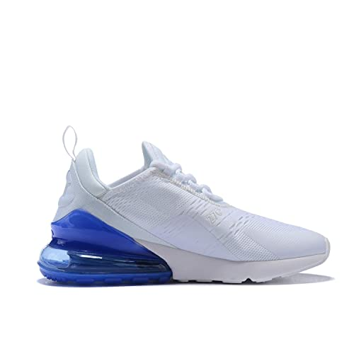 shades of factory outlets differently Hojert Air Max 270 Chaussures de Running Compétition Femme Homme Sneakers  (42 EU, Blanc/Bleu Royal (10))