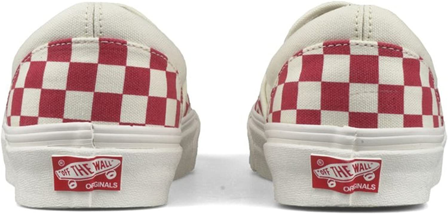 Vans U Classic Slip-on, Baskets mode mixte adulte Primary Check Racing Red White