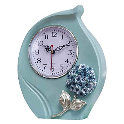 Family Fireplace Clocks Desktop Clock Mute Resin Clock for Living Room Style Decoration Farm Bedroom ó