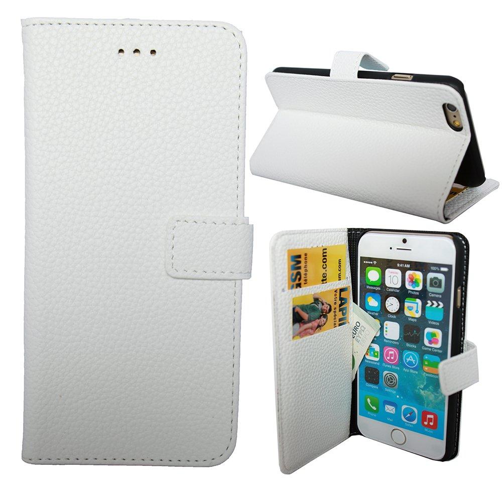 iPhone用LAPINETTE 8 Plusホワイトウォレットケースカバー   B0762NY23Q