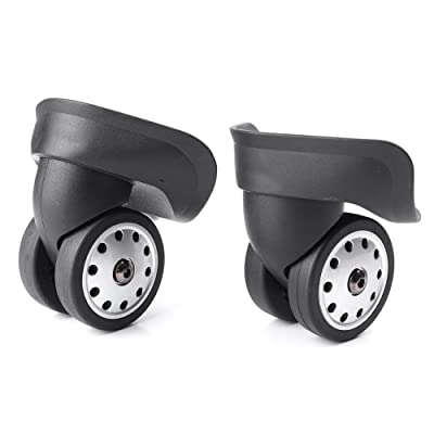 Beautylady 2pcs/set Mute Connected Wheels for Replacement Luggage Wheels DIY W046# Large Black : Sports & Outdoors