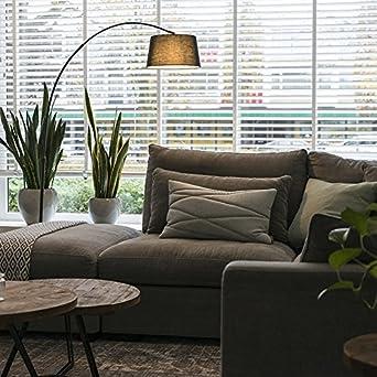 Gut QAZQA Modern Bogenleuchte/Bogenlampe / Lampe/Leuchte Arc Schwarz Mit  Schwarzem Stoffschirm/Innenbeleuchtung