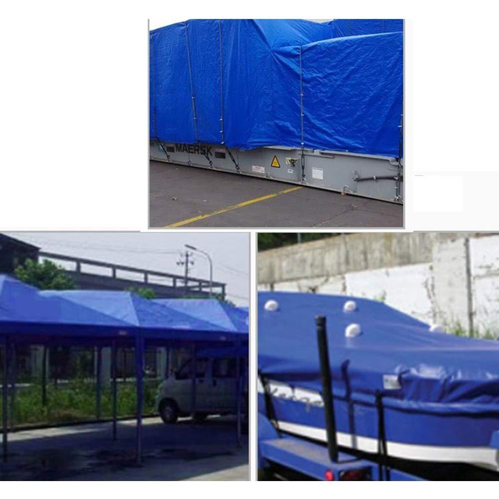 Gewebeplane Schatten Sonnencreme draussen Kunststoff Regen Plane, Weiss Blau Weiss Plane, (größe : 8  10cm) 239975