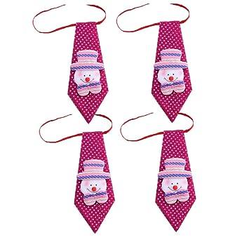 f72b6cdaeab64 FY 4pcs Unisexe Adulte Enfants Cravate Bow Tie Noël Bonhomme de Neige  Dimensions Modèle Noeud Papillon