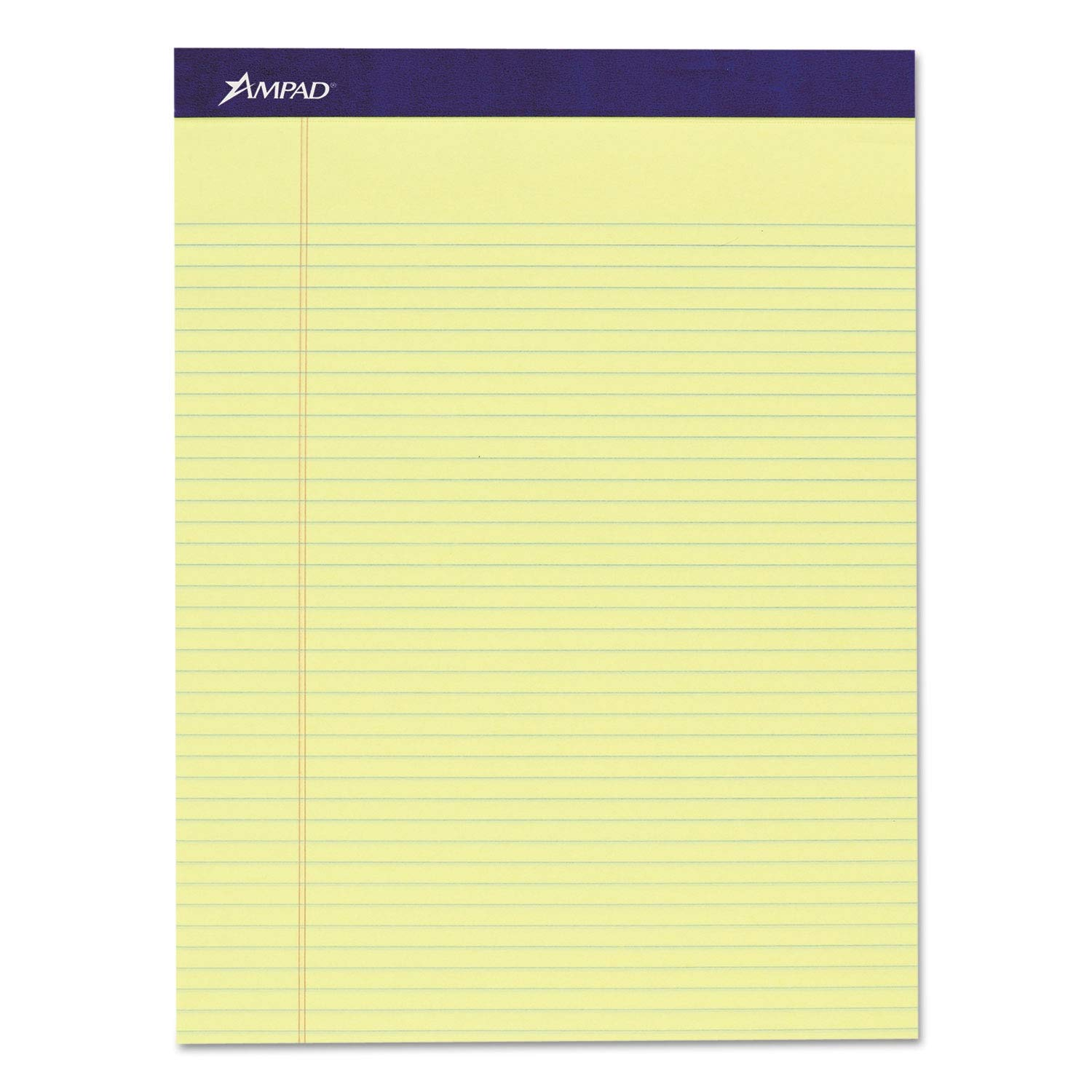 Ampad Mead Legal Ruled Pad, 8 1/2 x 11, Canary, 50 Sheets, 4 Pads/Pack - 20215 (Pack of 2)
