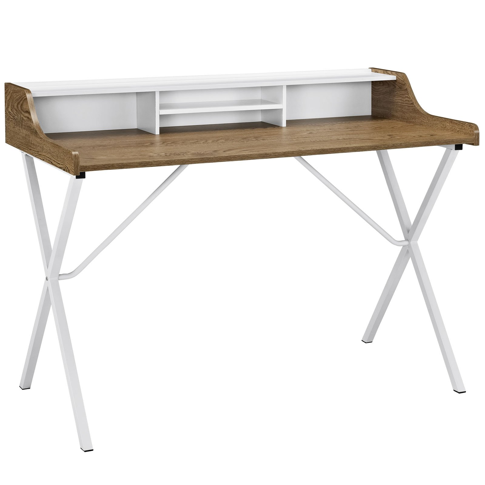 Modway Bin Desk in Walnut