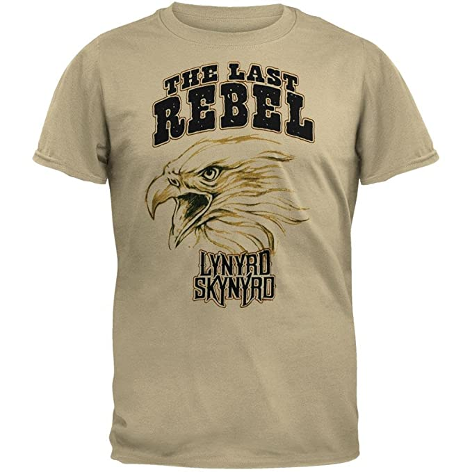 c418e7f5 Lynyrd Skynyrd - Last Rebel Soft Tan T-Shirt | Amazon.com