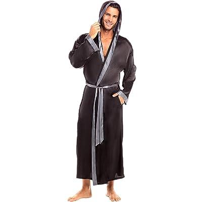 Alexander Del Rossa Men's Lightweight Satin Robe, Long Kimono at Amazon Men's Clothing store