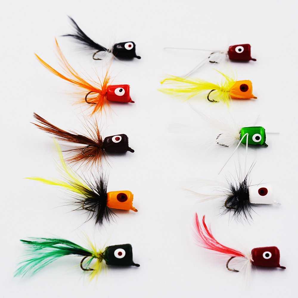 Flyafish Bass Popper Dry Fly Fishing Lure Kit Panfish Bait