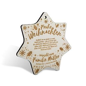 Holz Weihnachtskarten.Lasergravierte Weihnachtskarten Aus Holz Als Weihnachtsdeko 40