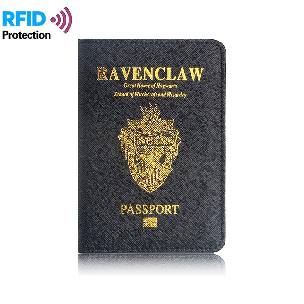 Comtervi Prot/ège-Passeport Harry Potter /Étui pour Passeport en Similicuir de qualit/é sup/érieure avec Blocage RFID pour Cartes de cr/édit pi/èces didentit/é et Documents de Voyage