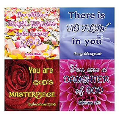Christian Stickers for Women Series 2 (5 Sheets) - Motivational Stickers for Women : Office Products