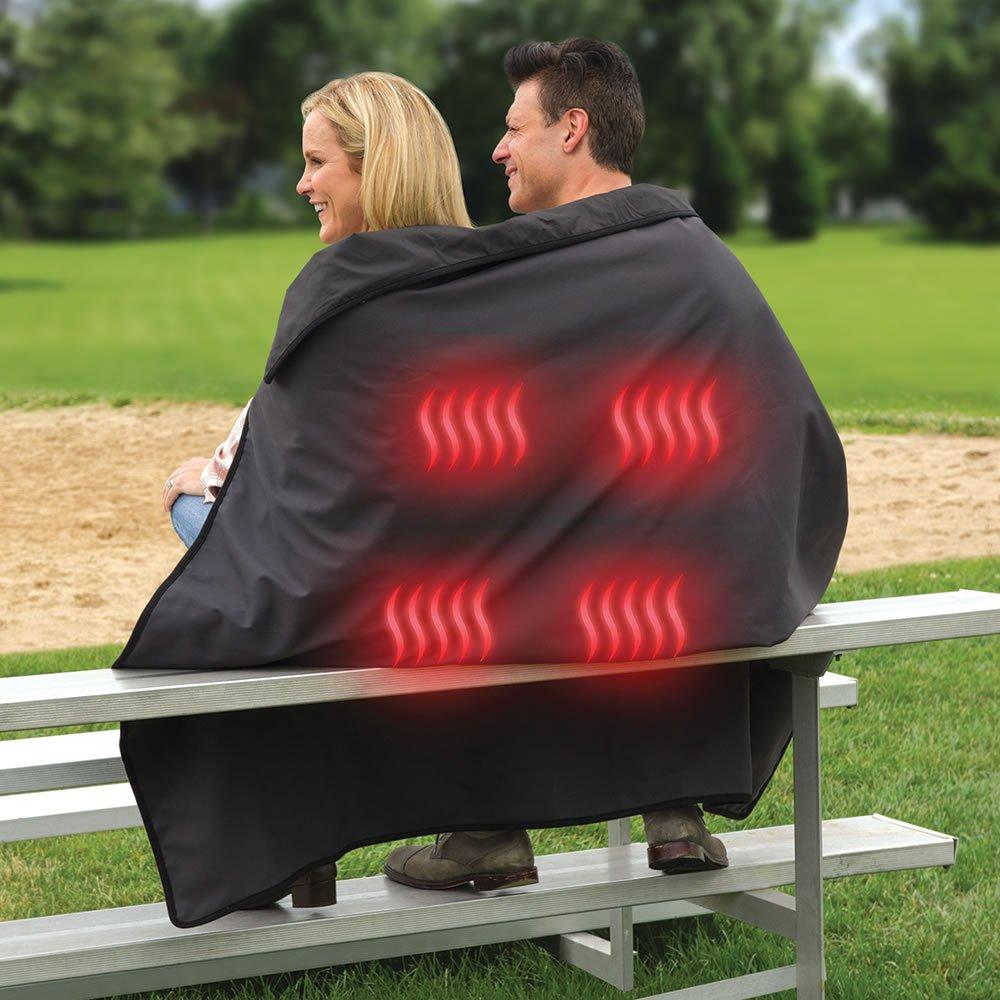 Hammacher Schlemmer The Cordless Heated Stadium & Picnic Blanket
