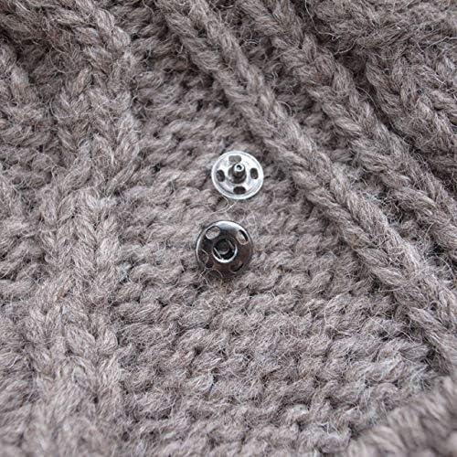 【スナップボタン(縫い付けタイプ)】メタル(金属) スナップボタン #ASP0001 10mm C/#BN ブラックニッケル 2個セット