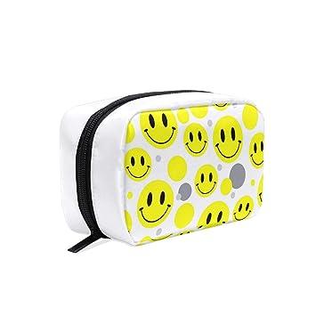 Amazon.com: Bolsa de cosméticos para mujer, cara sonriente ...
