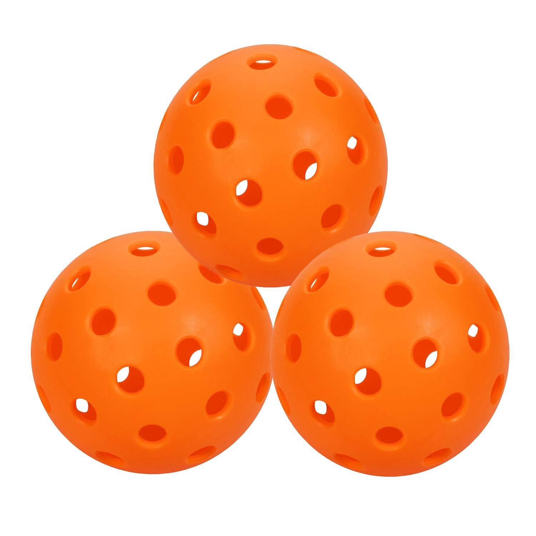 アウトドアピックルボールボール – プロフェッショナル特許取得済40穴パターンピックルボール、高視認性イエローピックルボールゲーム、練習、トレーニング用。 B07GYTLDXQ