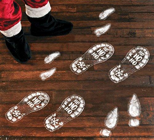 Christmas Santa Stickers (128PCS Christmas Decorations Footprints Party Decals Clings Floor Stickers - Xmas Santa Claus / Elf / Reindeer)