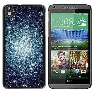 Caucho caso de Shell duro de la cubierta de accesorios de protección BY RAYDREAMMM - HTC DESIRE 816 - Cluster Sky Night Universe