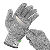 Ultra Durable Cut Resistant Gloves, for Ktichen Cooking, Oyster Shucking, Fish Fillet Processing, Mandolin Slicing, Meat Cutting, Wood Carving Level 5 Protection, Food Grade (Small)