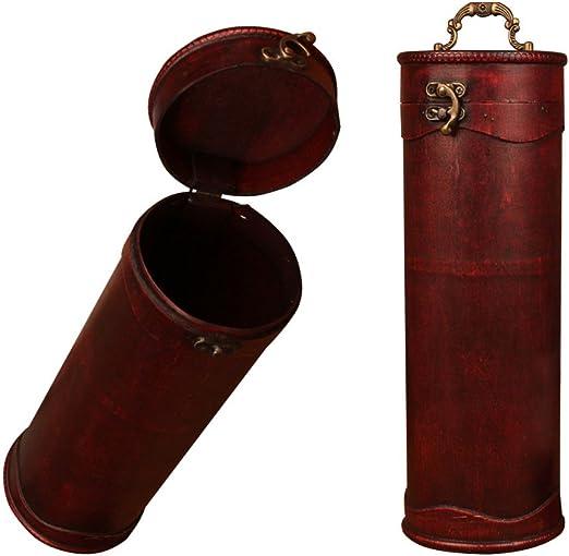 Baffect Madera Vintage Caja para Botellas de Vino y de Bloqueo de Cilindro con Exquisito Mango Set de Regalo: Amazon.es: Hogar