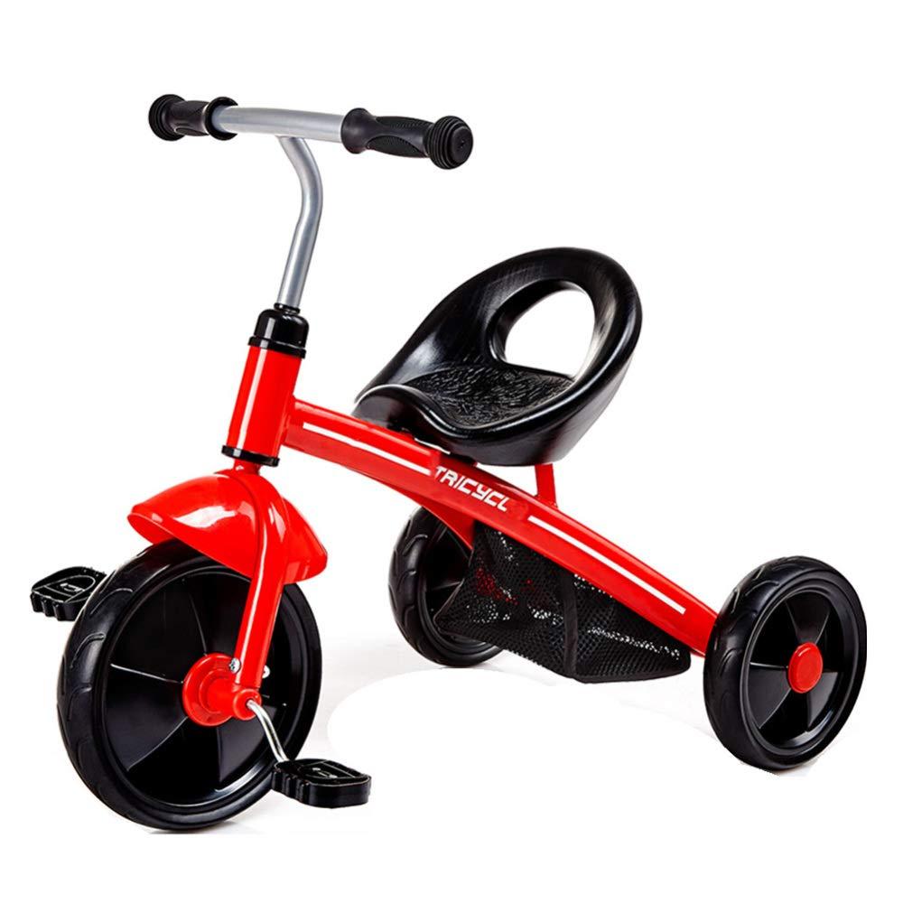 JYY Bicicleta De Triciclo para Niños, Triciclo De 3 Ruedas para Niños Pequeños, Entrenador De Aprendices para Niños De 1-4 Años,Yellow