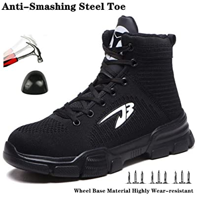 Mens Safety Shoes Steel Toe Lightweight Work Boots Hiking Trainers Sneakers Top