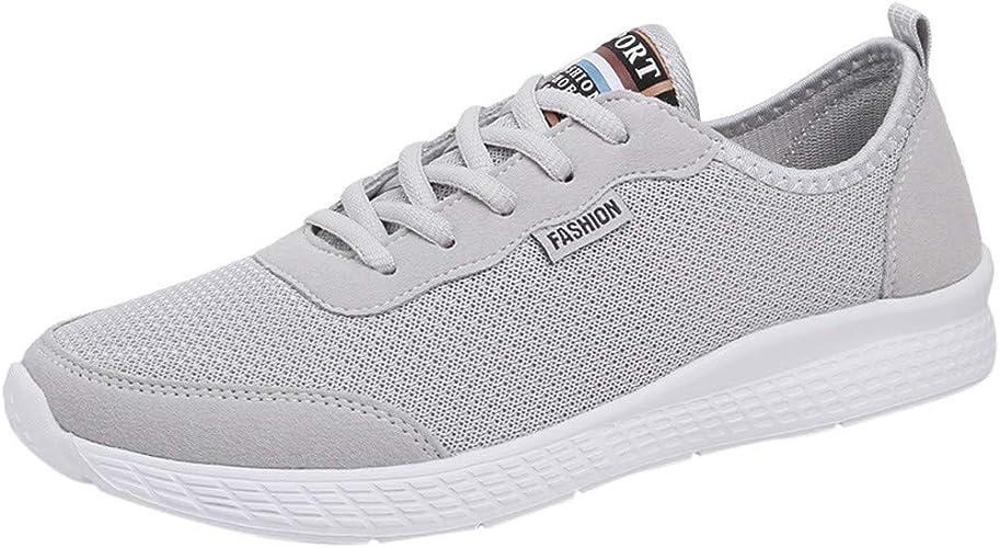 Youngh - Zapatillas de Running para Hombre, Talla Grande, de Malla, Ligeras, Transpirables, para Verano, Beige (Gris), 40 EU: Amazon.es: Zapatos y complementos