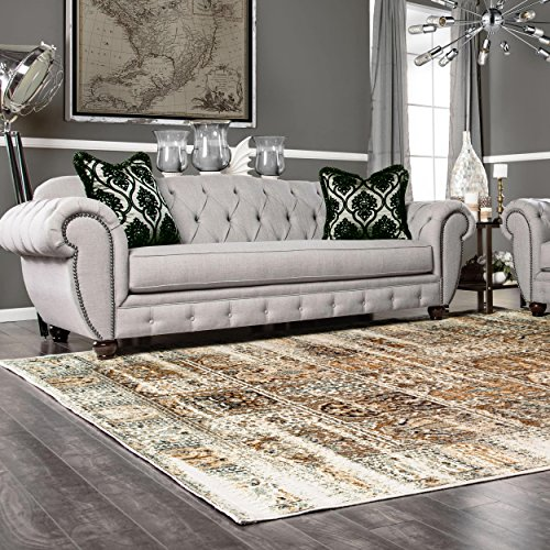 Superior Quality Soft, Plush and Durable 10mm Moisture and Mildew Resistant Waterford Collection Area Rug, 8' x 10' Ivory (Mm Woven 10 Edge)