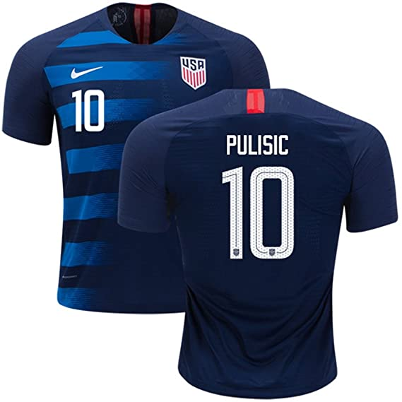 online store 29bd5 671ea Amazon.com : Nike USA Soccer jersey 2018 Away Pulisic #10 ...