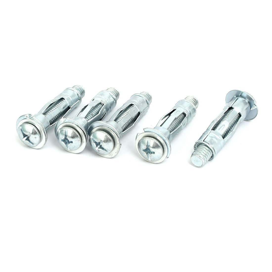 Portal Cool M8x37mm Expansion Bolt Sleeve Anchor 5pcs for 6mm-13mm Hollow Wall Wide Spread SM-TRADICO-XU-HI-008985