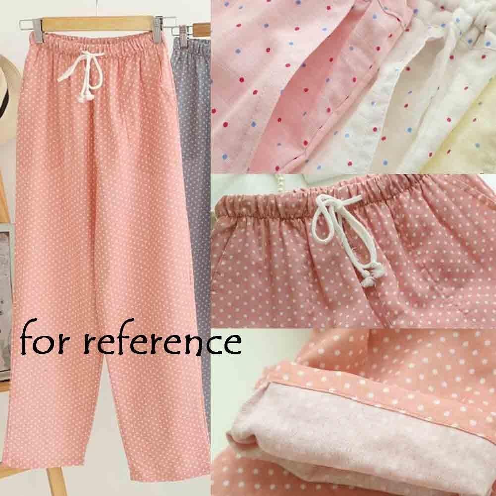 Blancho Bedding Pantalones De Pijama De Algodon Azul Sakura Para Mujer Pantalones De Pijama Sueltos Pantalones Loungewear Ropa De Dormir Mujer