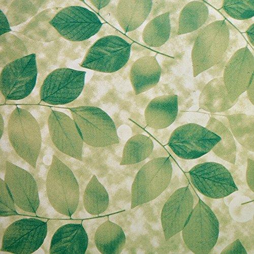 asibgホームウィンドウ用紙ウィンドウステッカー透明不透明Frostedバスルームガラス用紙シェーディングウィンドウフィルム90 cm × 200 cm jwa-29 B07354GK2H  Leafy profusion