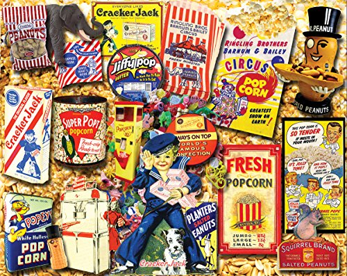 White Mountain Puzzles Favorite Snacks - 1000 Piece Jigsaw Puzzle
