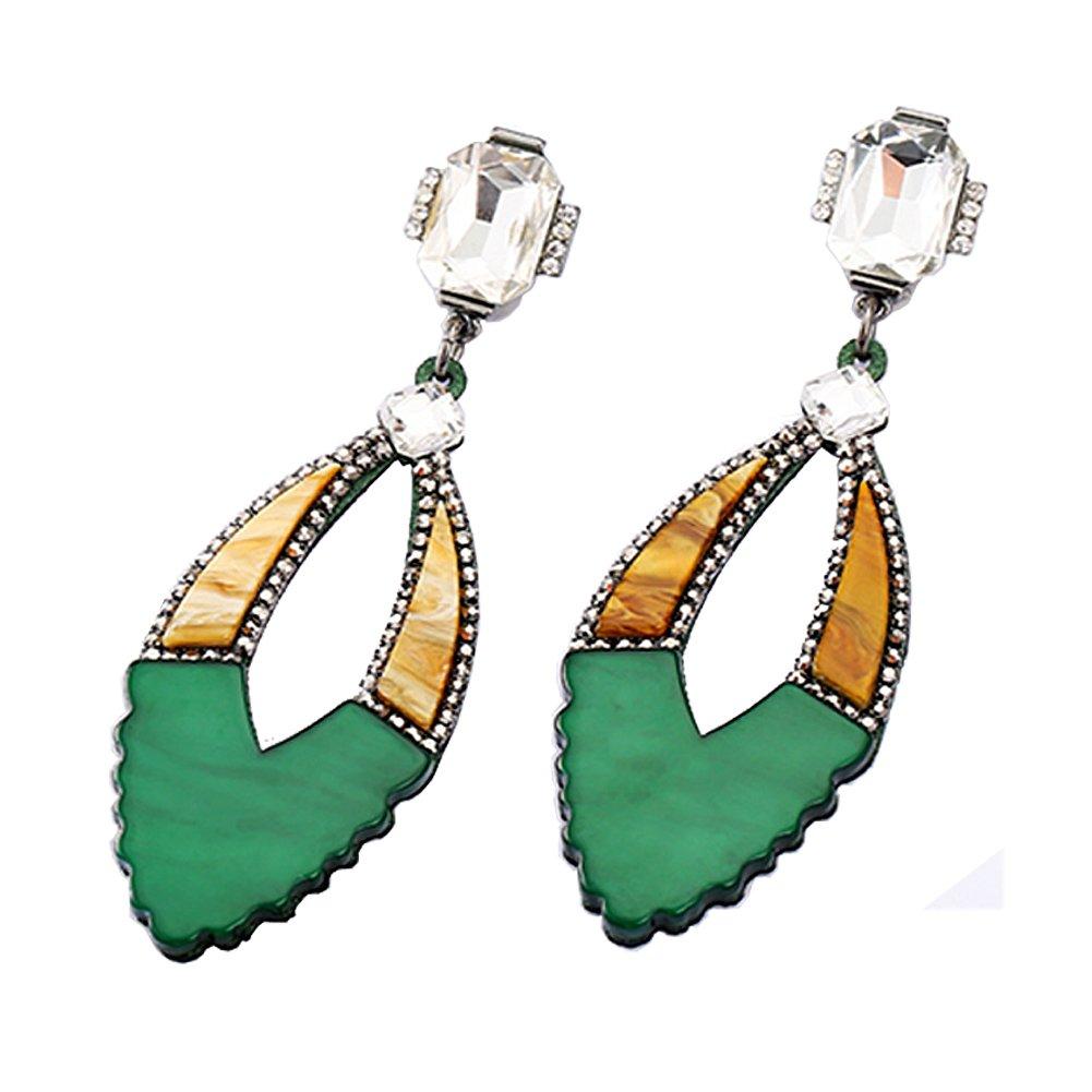 V-Liliana Fashion Retro Hot 3 Lot Colorful Acrylic Earring Green