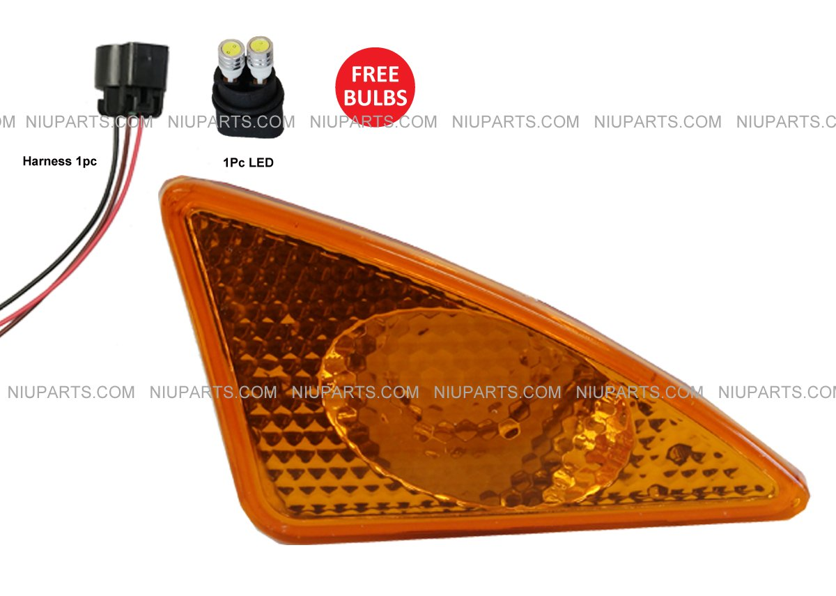 Turn Signal CORNER LAMP with LED Bulbs LEFT (Fit: KENWORTH T660 T600 T370 T270 T170 Truck) NIUPARTS