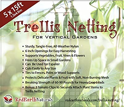 TRELLIS NETTING for SMART GARDENERS: Supports Tomatoes, Vegetables & Fruit to Grow Upright, Bonus: 5 Creative Ways to Use Garden Netting Ebook