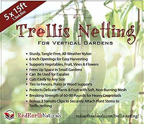 TRELLIS NETTING for SMART GARDENERS: Supports Tomatoes, Vegetables & Fruit to Grow Upright, Bonus: 5 Creative Ways to Use Garden Netting (Screen Porch Systems)