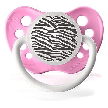 Amazon.com: Personalizado Zebra chupetes Chupete, Rosado: Baby