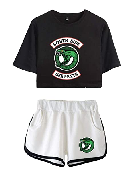 Siennaa Pantaloncini E Magliette Shirt Tumblr T Crop Top Riverdale k8wnOP0