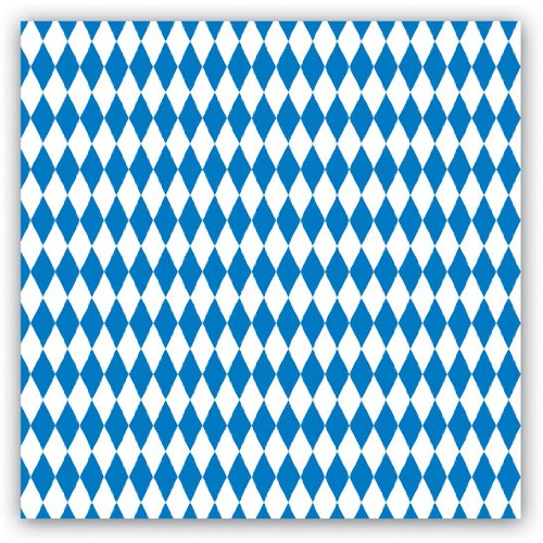 Blue & White Luncheon Napkins (2-Ply)    (16/Pkg)