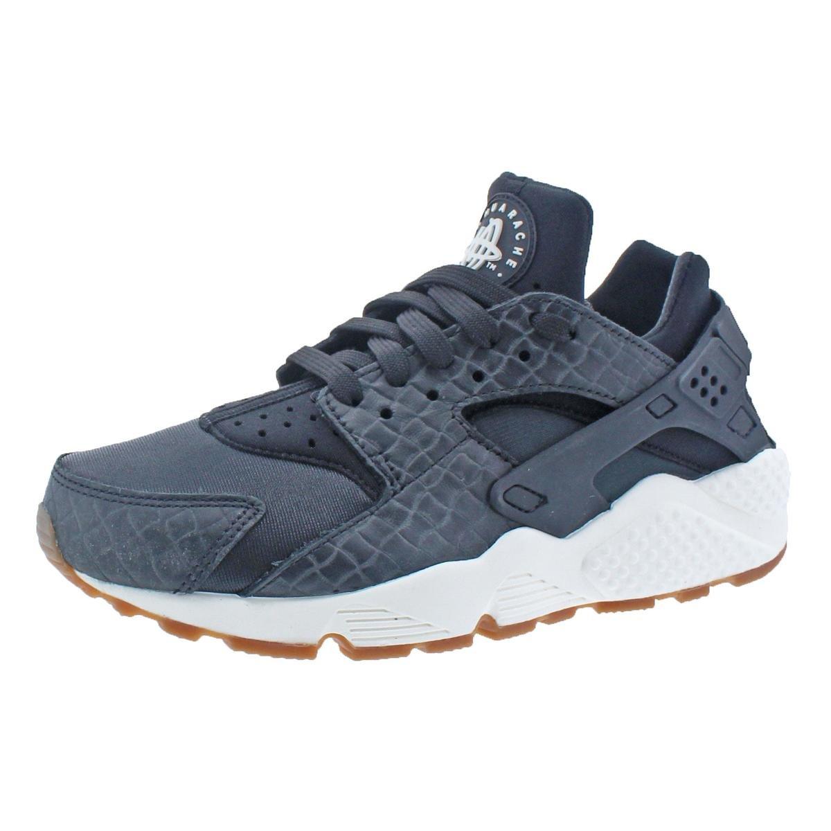 6209a6e35e708 Galleon - NIKE Womens Air Huarache Run Premium Fashion Sneakers Black 5  Medium (B