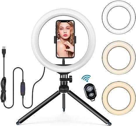 13 Selfie Ringleuchte Stativ Mit Handyhalter Und Kamera