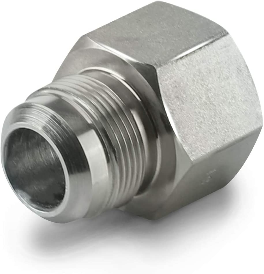 Black//Stainless Steel Flextron FTGC-BC38-18J 18 Flexible Epoxy Coated Gas Line Connector with 1//2 Outer Diameter and 3//8 Fip x 1//2 Mip Fittings