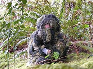 StealthSuit Kids Paintball Sniper 4-Piece Woodland Ghillie Suit - Large
