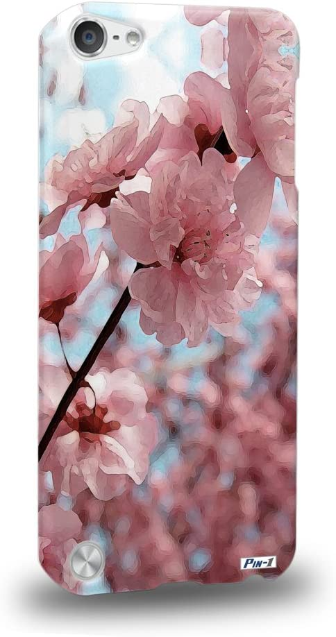 Pin-1 [Apple iPod Touch 5] 3D Printed Snap-on Hard Case & Warranty Card - Art Design Cherry Blossom 1396