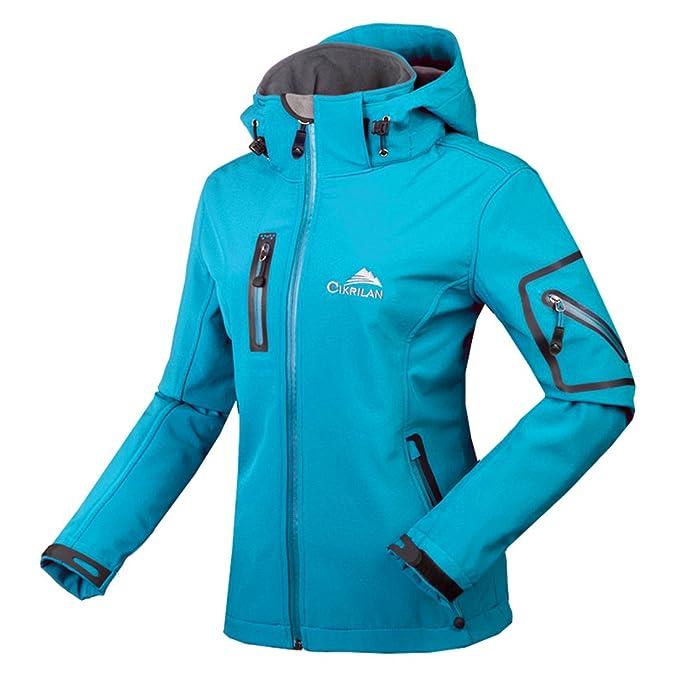 CIKRILAN Mujer Chaqueta Softshell Resistente al agua chaqueta al aire libre Ladies Deportes Camping Escalada de senderismo Coat: Amazon.es: Ropa y ...