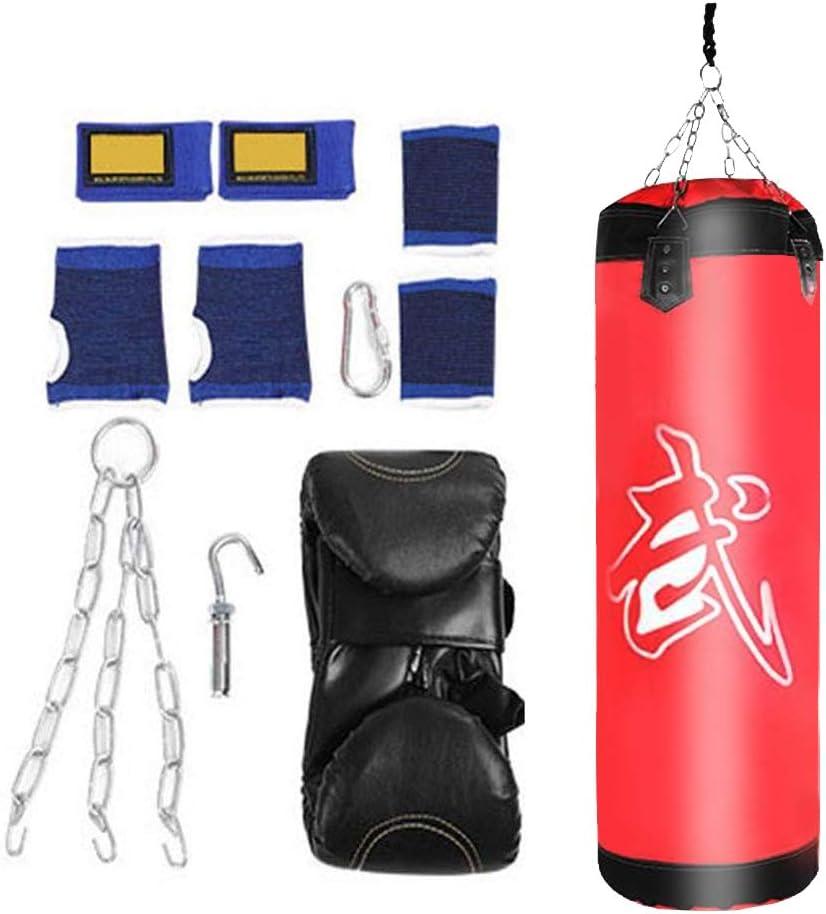 60CM-Rosso VGEBY1 Sacchi da Boxe Attrezzatura di addestramento di Forma Fisica della Borsa di Lotta di Calcio del Gancio di inscatolamento