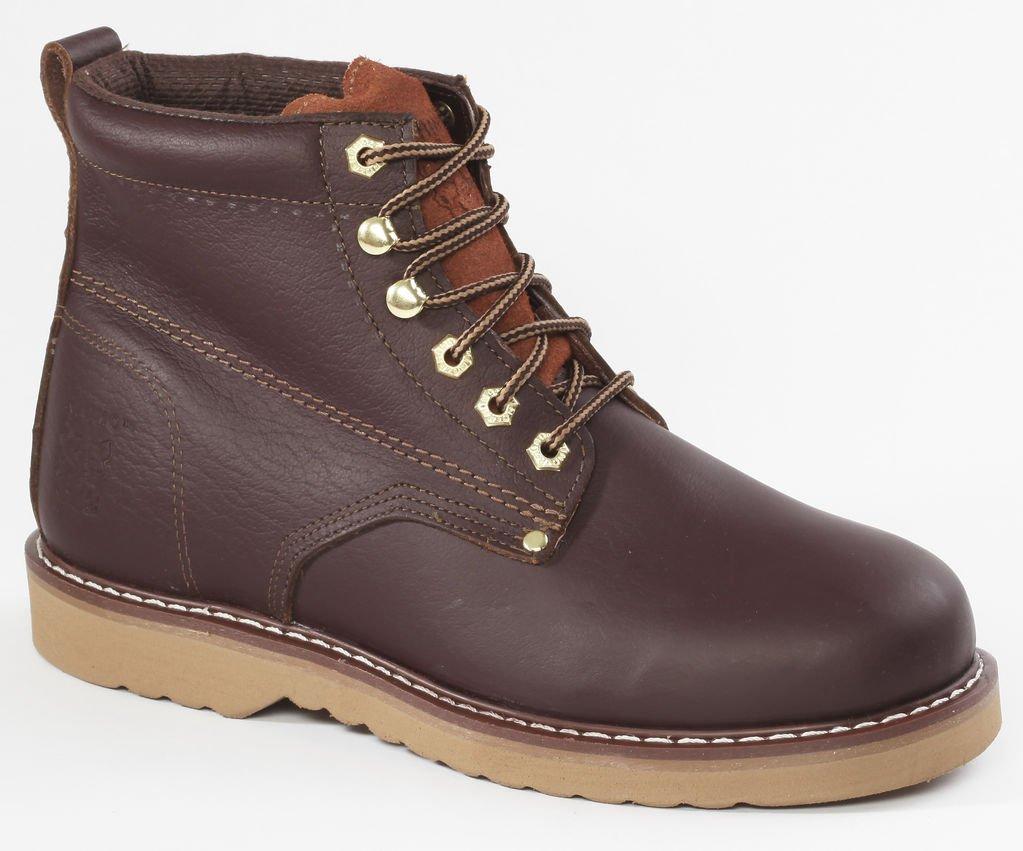 Rhino 61M28 6 inch Plain Toe Leather Work Boot - Brown (10)